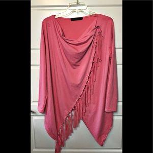Zanzea Collection Wrap fringed Top. Size large